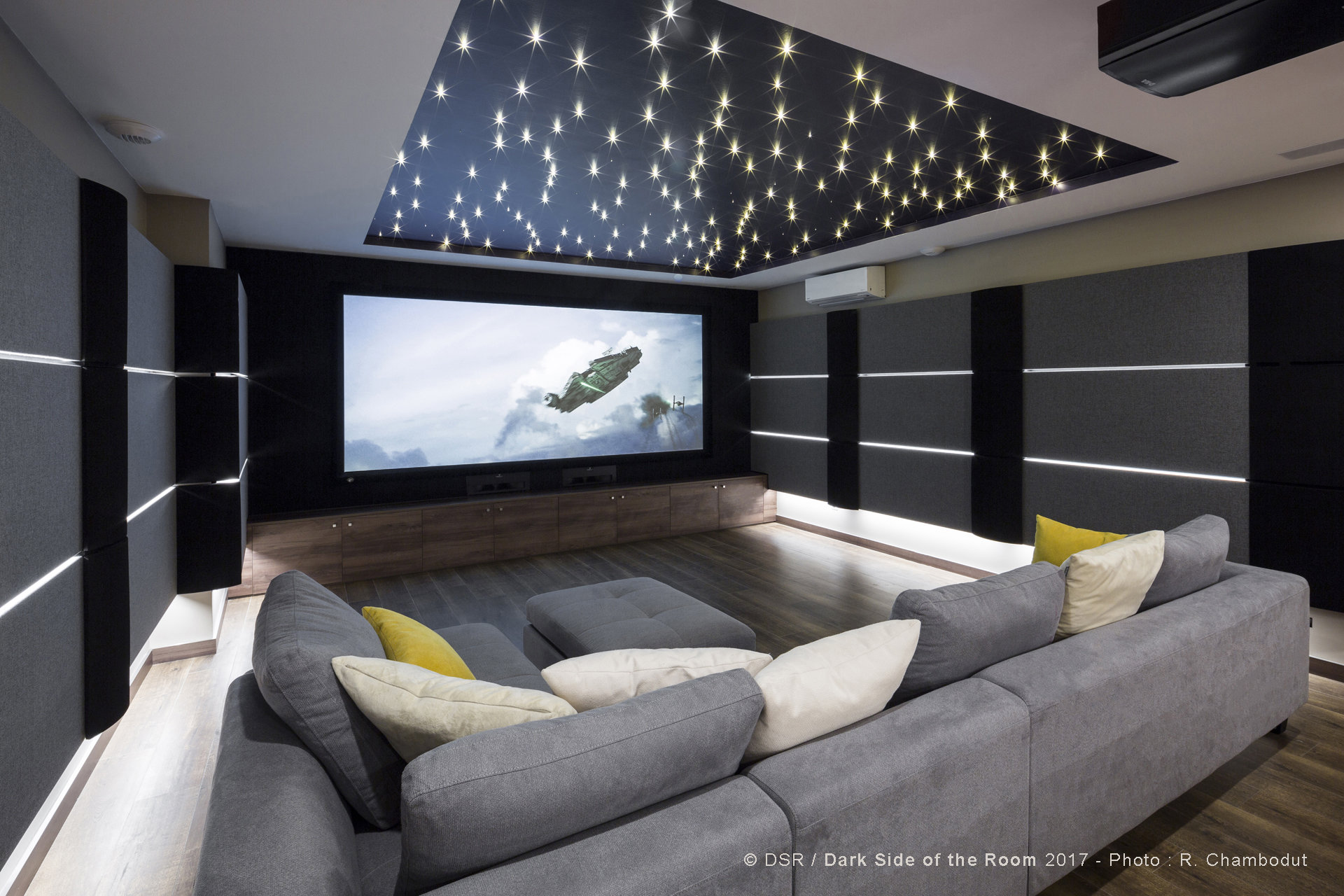 Joining A Project Late Is Never A Desirable Situation For An Installer.....  So We Applaud DSR For Their Work On This Fabulous Media Room In France!